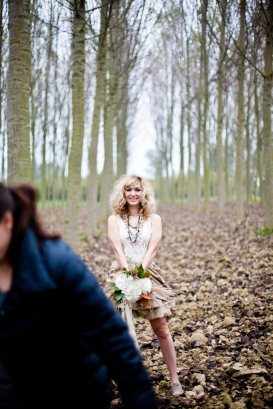 shooting in a grove of poplar trees